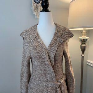 Roxy Tan Belted Wrap Knit Cardigan
